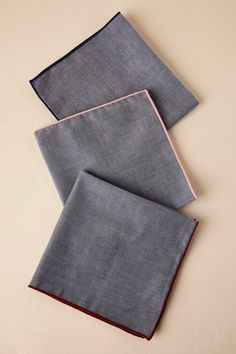Tie Bar Chambray Pocket Squares from @BHLDN