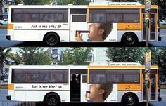 15 Most Creative Bus Ads (Funny Bus Ads, Cool bus ads, Funny Bus advertising)… Street Marketing, Guerilla Marketing, Ads Creative, Creative Advertising, Bus Advertising, Advertising Design, Rude Words, Advertising Techniques, Billboard Design