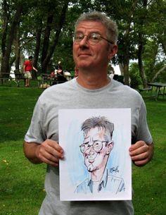 Jim Hopkins Party Caricature