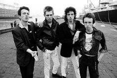 The Clash, photographed in NYC, 1978 by Michael Putland ... Follow – > http://www.songssmiths.wordpress.com  Like -> http://www.facebook.com/songssmithssongssmiths