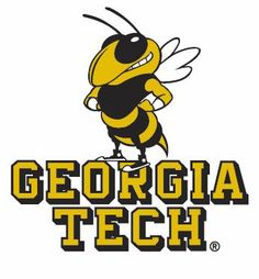 georgia tech yellow jackets primary logo 1969 bee under script rh pinterest com georgia tech logo download georgia tech logo vector
