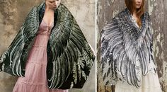 Roza is a brilliant artist. I'd probably walk around naked in her scarves because who needs clothes when you have wings?  Beautiful Birdwing Scarves from Roza Khamitova