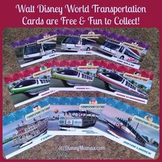 They're not always available ... but your kids will love collecting these free Walt Disney World Transportation Cards!