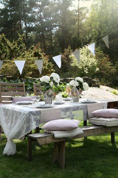 This is what I want it to look like. A proper garden party setting.
