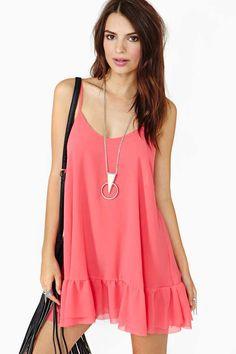 Warm Summer Nights Dress - Coral