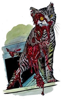 #zombies  Zombie Cat..not so grumpy now, are you?