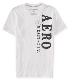 Camiseta Aeropostale Masculina V-NECK LOGO GRAPHIC - Branca