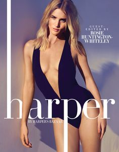 Introducing Rosie Huntington-Whiteley as the new face for harper by Harper's BAZAAR.