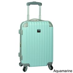 Travel with confidence and style with this 20' hardsided carry-on from Travelers Club Luggage. Conveniently equipped with a sleek hardsided exterior, fully-lined interior, and a spacious main compartm