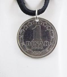 Yugoslavia Coin Necklace - https://www.etsy.com/listing/234501090/yugoslavia-coin-necklace-1-dinar-coin