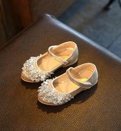 Toddler  amp  Little Girl Shoes-Light Gold Sparkle Rhinestones Flower Girl  Shoes This very cd21e696f9db