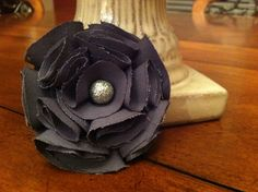 Fabric Flower - Made this for an accent to a denim purse. #DIY #fabric #flower