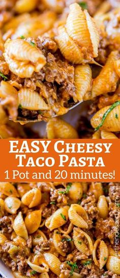 We LOVED this Cheesy Taco Pasta, just like the Hamburger Helper we grew up with! We LOVED this Cheesy Taco Pasta, just like the Hamburger Helper we grew up with! We LOVED this Cheesy Taco Pasta, just like the Hamburger Helper we gr. Yummy Pasta Recipes, Casserole Recipes, Mexican Food Recipes, New Recipes, Cooking Recipes, Healthy Recipes, Pasta Casserole, Healthy Foods, Taco Pasta Bake
