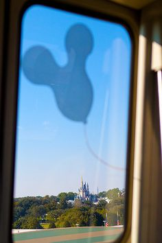 Disney bus window