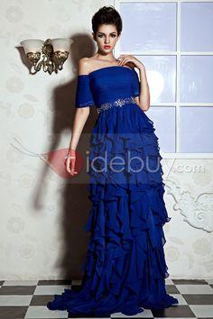 舞会/晚礼服的长度达到A线过肩地板