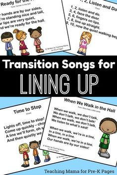 Transition Songs for Lining Up in Pre-K - Pre-K Pages