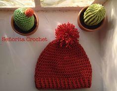 Bonnet avec pompom  Señorita Crochet