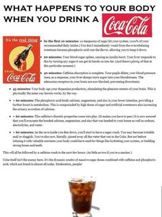 What happens to your body when you drink a Coca-Cola? This is exactly why I don't drink pop...HORRIBLE!