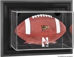 Northwestern Wildcats Framed Wall Mountable Football Display Case