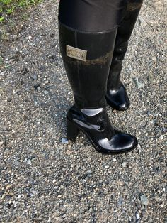 Heeled Rain Boots, Shoe Boots, Girls Shoes, Rubber Rain Boots, Heels, Collection, Black, Fashion, Natural Rubber