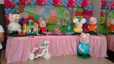 Turma da Peppa Pig #MariaFumacaFestas decorando sua festa infantil