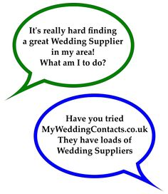 Looking for great wedding suppliers - check out www.MyWeddingContacts.co.uk