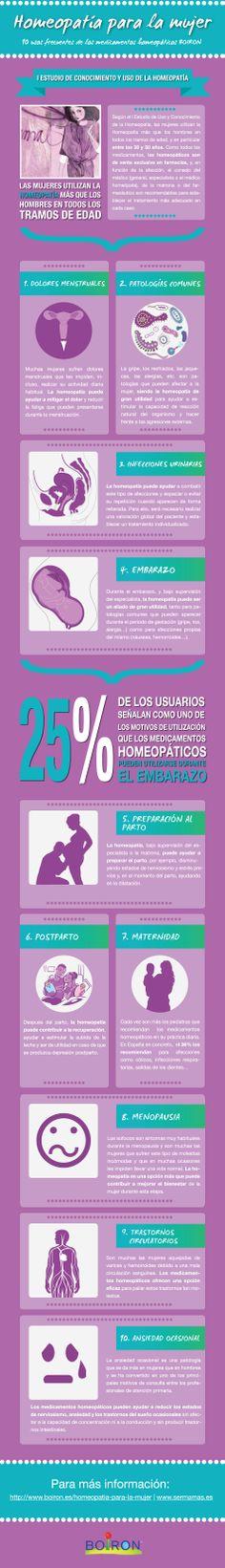 #Homeopatía para la mujer. 10 usos frecuentes de los medicamentos homeopáticos #BOIRON.