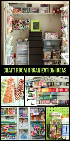 Awesome craft room organization ideas from playpartypin.com, LOVE the straw and washi tape storage