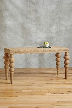 Jute-Wrapped Console - anthropologie.com