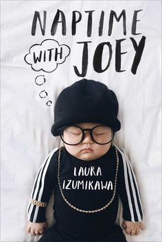 NAPTIME WITH JOEY by Laura Izumikawa  Love Eleven from Netflix's hit show STRANGER THINGS? Now you can dress your baby as Eleven with this costume tutorial perfect for Halloween or cosplay for Comic Con. Laura Izumikawa's book NAPTIME WITH JOEY is not only filled with ridiculously good photos of her baby dressed up but features Joey as some of pop culture's most popular icons: Thor, Run DMC, Moana, Princess Jasmine, Inigo Montoya, Britney Spears, Beyoncé, Pikachu and Anna Wintour.