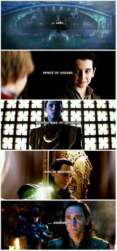 I'VE JUST BEEN STABBED. Loki.