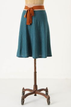 anthropologie color block skirt