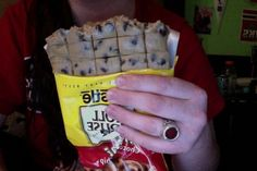 When this girl treated raw cookie dough like a giant-size candy bar. | 22 Examples Of The Most Gangsta Sh*t That Has Ever Happened