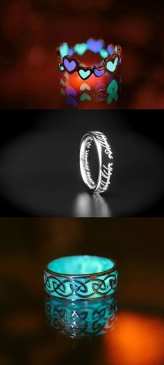 Oh if my wedding ring was like the middle one with something cute engraved I'd wear it 24/7 ETERNITY!!!