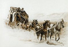 Western Decor Western Stagecoach Old West by PaintingsOfTheWest, $25.00 (DUSTY)