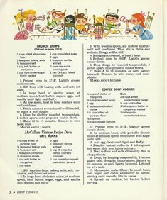 1965 vintage cookbook, McCall's Cookie Collection,
