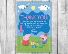 Peppa Pig invitación partido del cerdo del por MrGeniusInvites