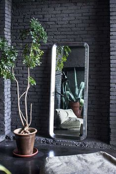 The stylish Déjà-Vu Mirror was designed by Naoto Fukasawa for Magis in Extruded Aluminum, Aluminium, Garden Furniture, Furniture Design, Furniture Showroom, Furniture Stores, Naoto Fukasawa, Air Chair, Wall Mounted Mirror