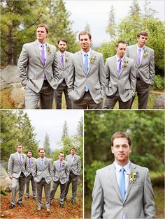 I like the concept where the I would wear a different color tie than the other groomsman