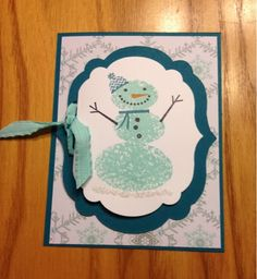 I have to say that when I first say the Holiday mini, I passed over Snow Day stamp set.  Then I saw so many cute cards made with him and th...