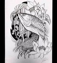 Borneo tattoos beautiful - borneo tattoos schön - t. Japanese Tattoo Women, Japanese Tattoo Art, Japanese Tattoo Designs, Frog Tattoos, Tattoos Skull, Body Art Tattoos, Tatoos, Catfish Tattoo, Koi Fish Tattoo