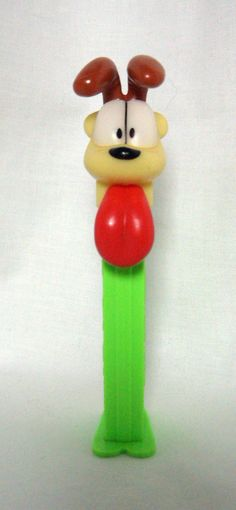 "Vintage 1978 Garfield the Cat Character ""Odie the Dog"" Pez Dispenser_Feet_Lime 