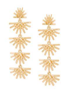 palm grass linear earrings