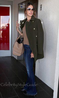 SHOP Zadig & Voltaire Zadig & Voltaire  Marlow Deluxe Felt Officer Coat Seen On Alessandra Ambrosio