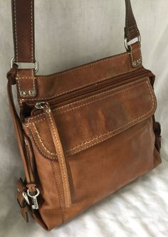 Vintage Fossil Convertible Organizer Leather Bag Purse In Clothing Shoes Accessories Women S Handbags