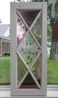 Stained Glass Panel by PeriwinkleGlassworks on Etsy