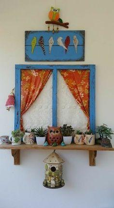 Craft diy project diy handmade wood painting balcony cocokelley via oreeko Diy Craft Projects, Wood Projects, Indian Home Decor, Diy Home Decor, Indian Bedroom Decor, Home Crafts, Diy And Crafts, Handmade Crafts, Diy Y Manualidades