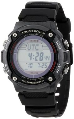 Casio Mens WS200H1BVCF Tough Solar Sport Watch with Black Resin Band * More info could be found at the image url.Note:It is affiliate link to Amazon.