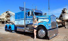 Kenworth – Born to Truck Big Rig Trucks, Semi Trucks, Cool Trucks, Custom Big Rigs, Custom Trucks, Train Truck, Tow Truck, Truck Transport, Trucks And Girls