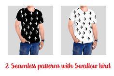 Swallow bird seamless pattern by Orangepencil on @creativemarket